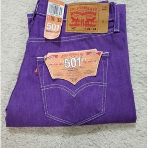 NEW Levi's 501 Shrink to Fit (005012409) Purple